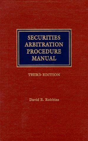 Download Securities arbitration procedure manual