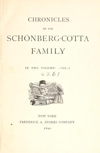 Download Chronicles of the Schönberg-Cotta family.