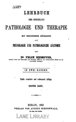 Lehrbuch der speciellen Pathologie und Therapie v. 2