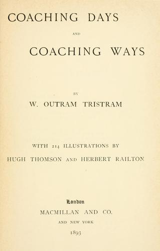 Download Coaching days and coaching ways