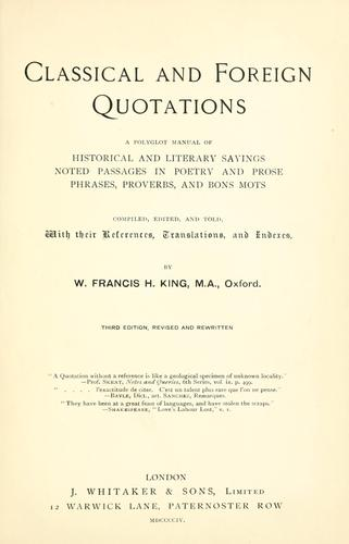 Classical and foreign quotations
