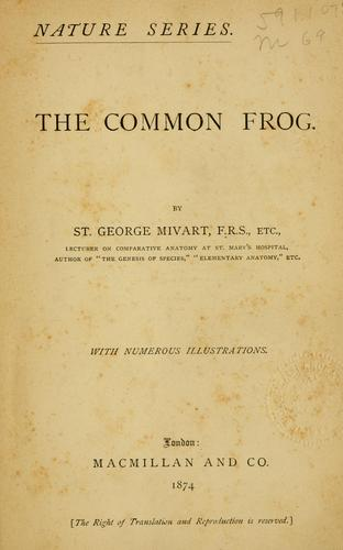 Download The common frog.