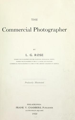 The commercial photographer