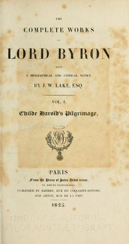 Complete works by Lord Byron