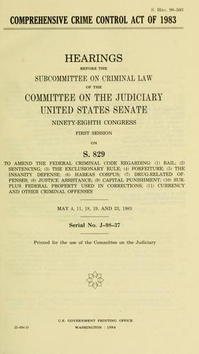 Download Comprehensive Crime Control Act of 1983
