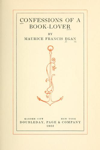 Download Confessions of a book-lover.