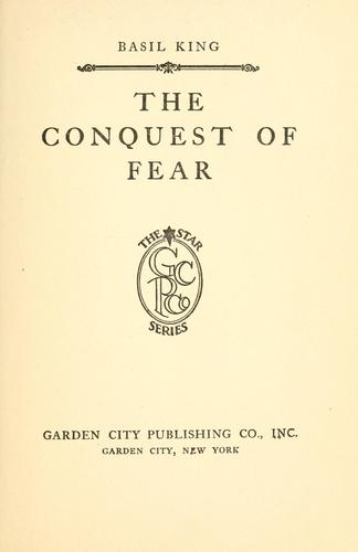 The conquest of fear.