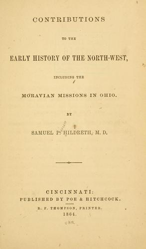 Contributions to the early history of the North-west