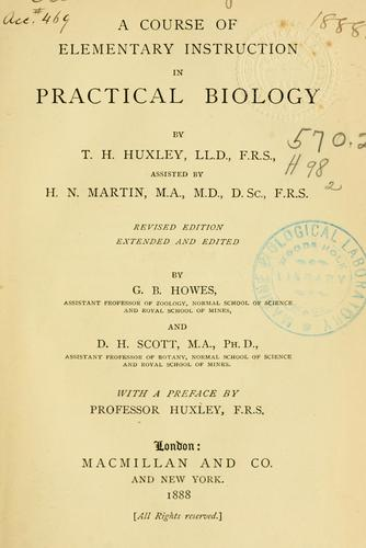 Download A course of elementary instruction in practical biology