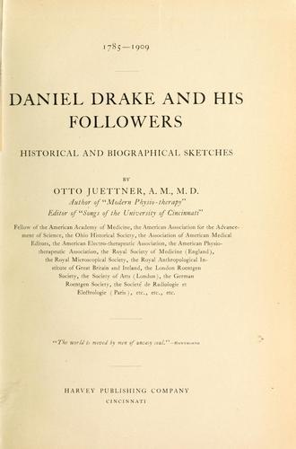 Daniel Drake and his followers