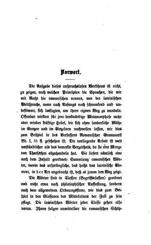 Grammatik der romanischen Sprachen. With Anhang