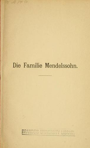 Download Die Familie Mendelssohn, 1729-1847