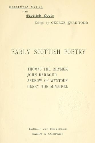 Download Early Scottish poetry
