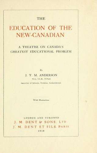 Download The education of the new Canadian
