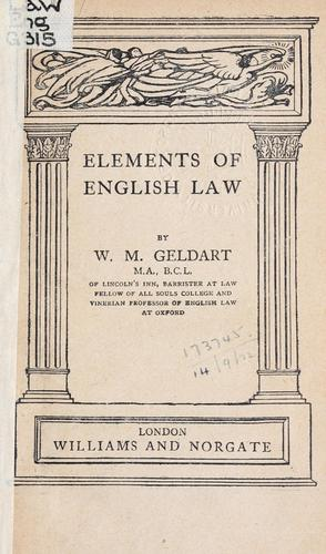 Elements of English law.