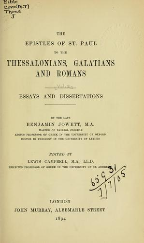 Download The Epistles of St. Paul to the Thessalonians, Galatians and Romans …