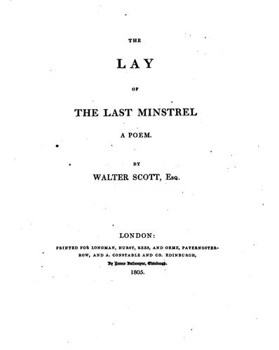 Download The Lay of the Last Minstrel: A Poem