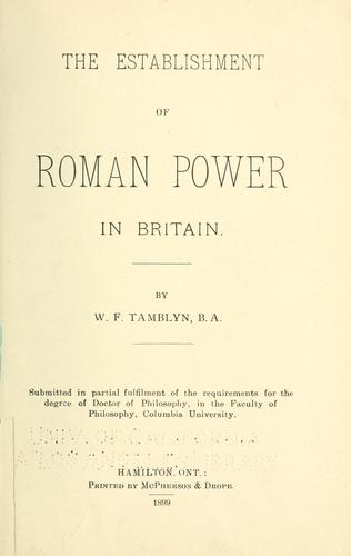 Download The establishment of Roman power in Britain.