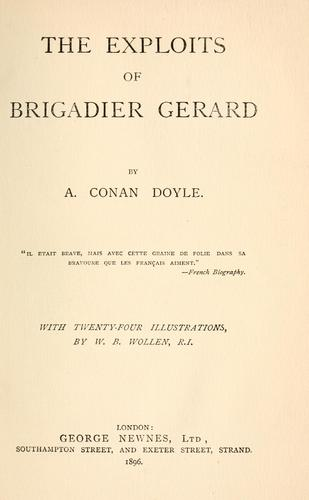 The Exploits of Brigadier Gerard by Sir Arthur Conan Doyle