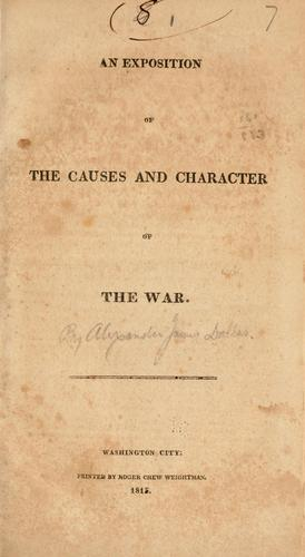 An exposition of the causes and character of the war.