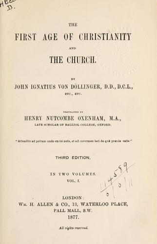 Download The first age of Christianity and the Church