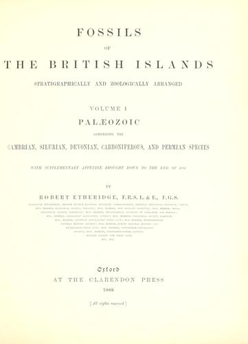 Download Fossils of the British Islands, stratigraphically and zoologically arranged.