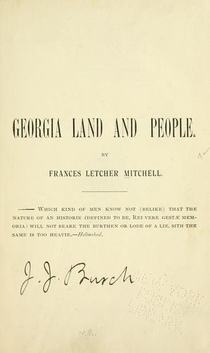 Georgia land and people