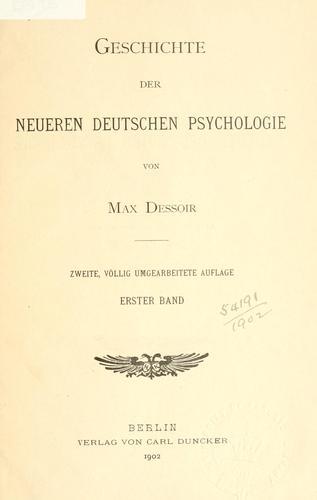 Download Geschichte der neueren deutschen Psychologie.