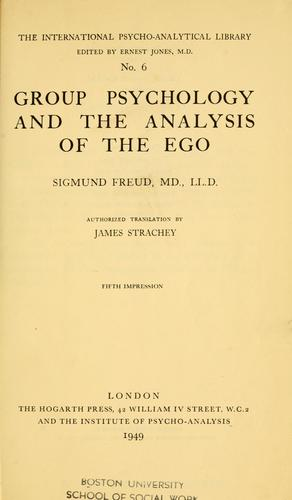 Download Group psychology and the analysis of the ego.