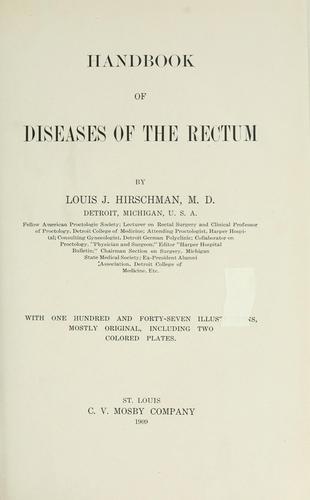 Handbook of diseases of the rectum