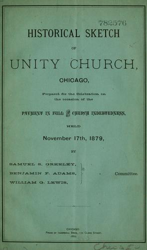 Download Historical sketch of Unity Church, Chicago