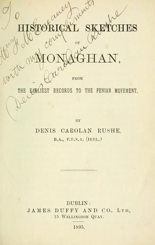 Historical sketches of Monaghan