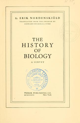 The history of biology (Open Library)