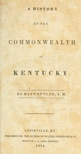 Download A history of the commonwealth of Kentucky.