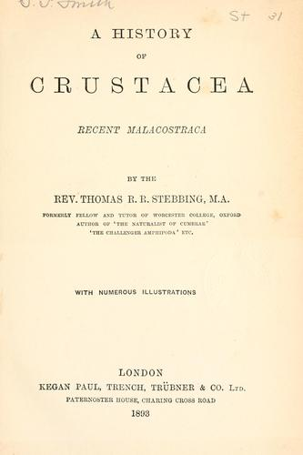 A history of Crustacea