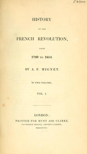 Download History of the French revolution, from 1789 to 1814