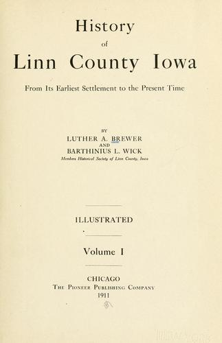 Download History of Linn County Iowa