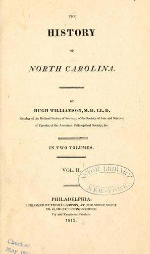 Download The history of North Carolina