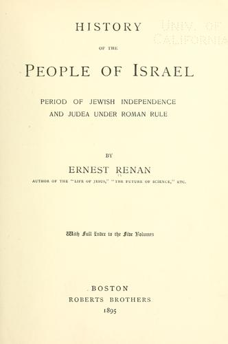History of the people of Israel …