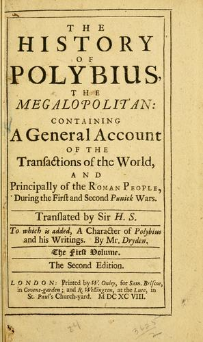 Download The history of Polybius, the Megalopolitan