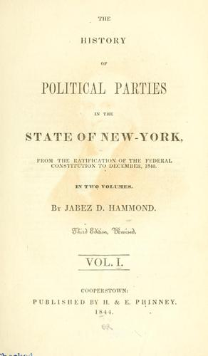 Download The history of political parties in the state of New-York