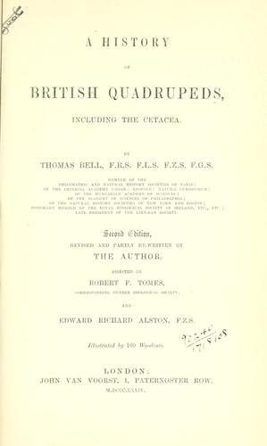 Download A history of British quadrupeds