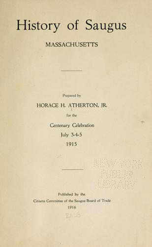 History of Saugus, Massachusetts. (Open Library)