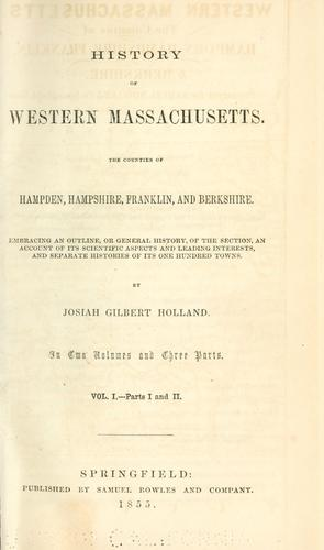 Download History of western Massachusetts.