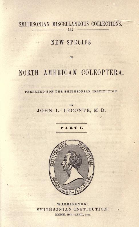 LeConte (1866) Smith. Misc. Coll. v. 6, no. 167, p. 87-186