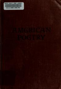 Cover of: An anthology of American poetry by Alfred Kreymborg