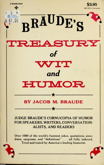 Cover of: Braudes Treasury Wit & Humour   Braude
