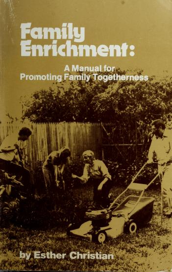 Cover of: Family enrichment   Esther Christian