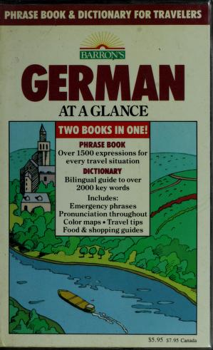 Cover of: German at a glance | Henry Strutz