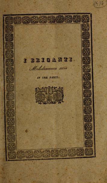 I briganti by Saverio Mercadante